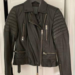 AllSaints limited edition leather Huxley biker